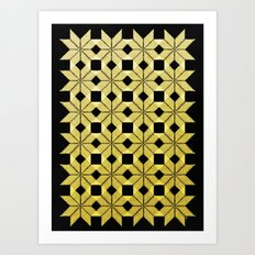 Golden Snow Art Print