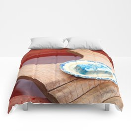 Soap and wooden washboard Comforters