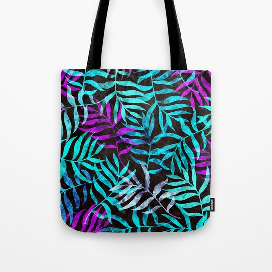 Watercolor Tropical Palm Leaves III Tote Bag