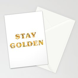 Stay Golden Sunflower Stationery Cards