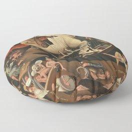 Hieronymus Bosch moral fantasy Floor Pillow