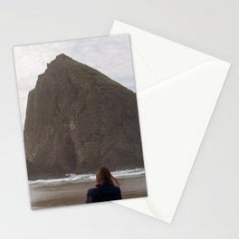 Hiding Behind Haystack Rock - Film Photograph taken in Cannon Beach, Oregon Stationery Cards