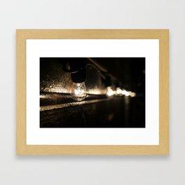 Street bulbs Framed Art Print