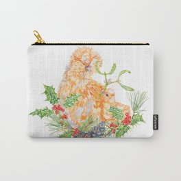 Silkie Chickens - Mistletoe Kiss Carry-All Pouch