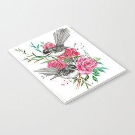 Floral Piwakawakas Notebook