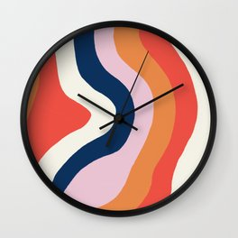 moab, canyon stripes Wall Clock