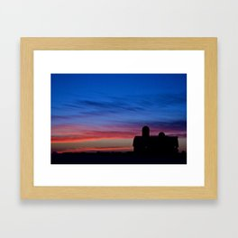 Barn Sunset Framed Art Print