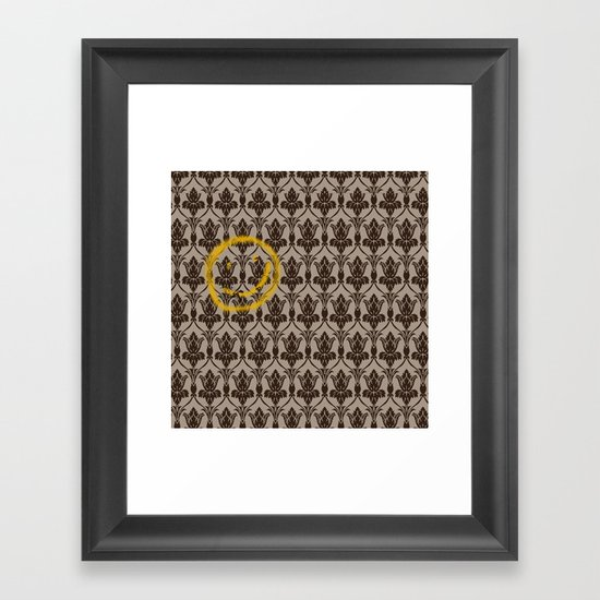 Sherlock Wallpaper Framed Art Print