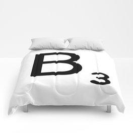 Letter B - Custom Scrabble Letter Wall Art - Scrabble B Comforters
