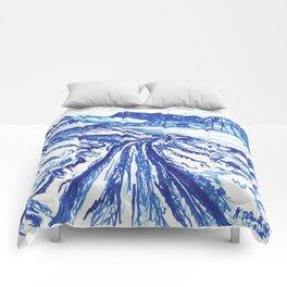 Blue landscape Comforters
