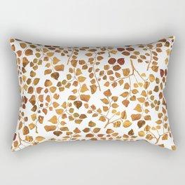 Golden Leaves Pattern Rectangular Pillow