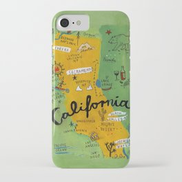 Postcard from California iPhone Case