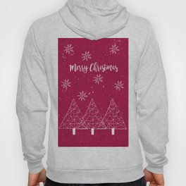 Merry Christmas Red And White Hoody