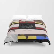 Maybe it's not the Destination that matters - square - Star Trek: Voyager VOY  trektangle minimalist Duvet Cover