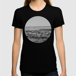 Black and White Pacific Ocean Waves T-shirt