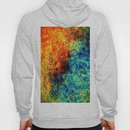 Abstract painting orange blue Hoody