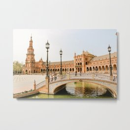 Bridge in Sevilla, Spain, Plaza de España - Wall Art Photo Print Metal Print