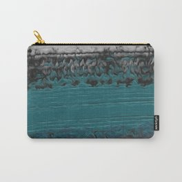 Teal and Gray Abstract Carry-All Pouch