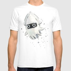 Blooper Squid Mario Watercolor Geek Art White Mens Fitted Tee X-LARGE