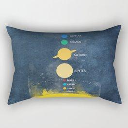 solar system Rectangular Pillow