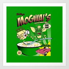 Mogwai's Breakfast the after midnight snak Art Print