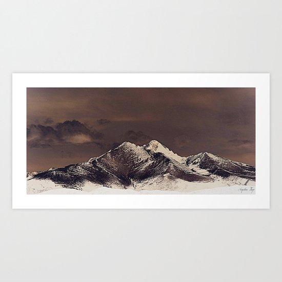 Rustic Mountain Art Print