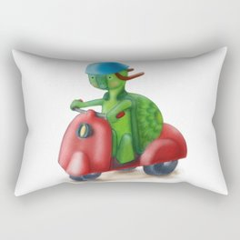 Speed Racing Biker Turtle Rectangular Pillow