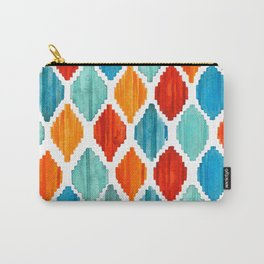 Bright colors tribal ikat pattern Carry-All Pouch