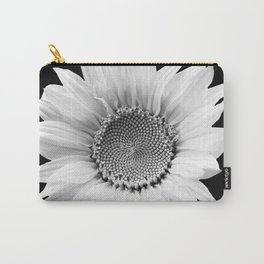 Sunflower In Black And White #decor #society6 #buyart Carry-All Pouch
