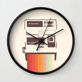 Instant Camera Rainbow Wall Clock
