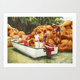 Fried chicken drive-thru Art Print