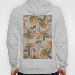Orange Succulent Flowers Pastel Green Background #decor #society6 #buyart Hoody