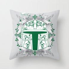 Boba Tatt Throw Pillow