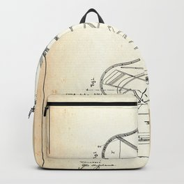 Grand Piano Patent - Old Paper Backpack