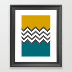 Color Blocked Chevron Framed Art Print