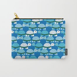 Turtle Pattern (Blue/White) Carry-All Pouch