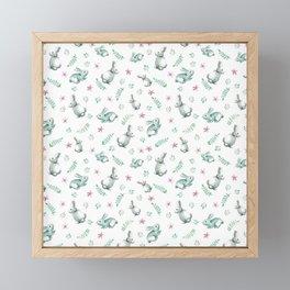 Bunnies Framed Mini Art Print