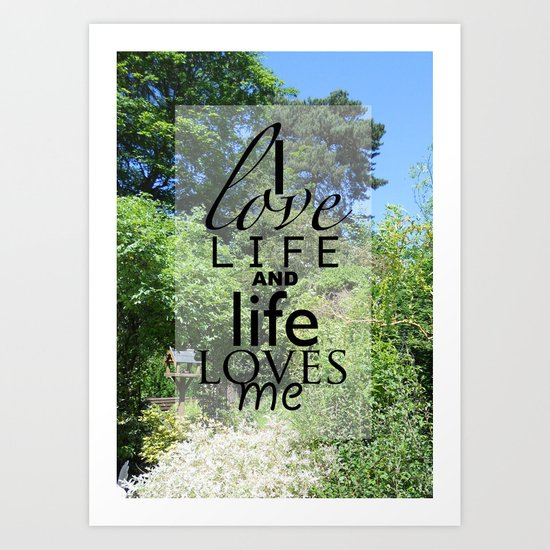 Life is just Art Print