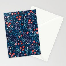 Teeny Tiny Floral Blue Stationery Cards