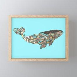 The 52 hertz whale Framed Mini Art Print