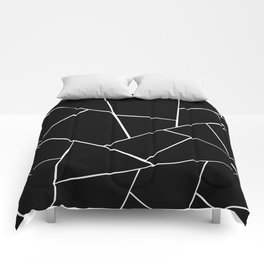 Black White Geometric Glam #2 #geo #decor #art #society6 Comforters