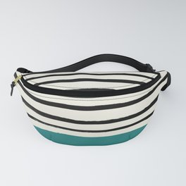 Teal x Stripes Fanny Pack