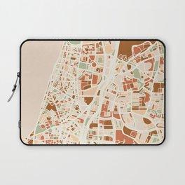 TEL AVIV ISRAEL CITY MAP EARTH TONES Laptop Sleeve