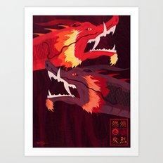 Original Bending Masters Series: Ran and Shaw Art Print