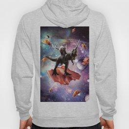 Space Cat Riding Dinosaur Unicorn - Bacon & Taco Hoody