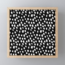 Handdrawn drops and dots on black - Mix & Match with Simplicty of life Framed Mini Art Print