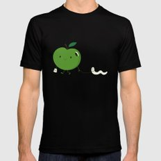 Apple's pet Black LARGE Mens Fitted Tee