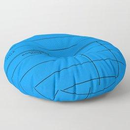 Library Card BSS 28 Blue Floor Pillow