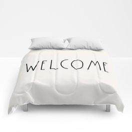 WELCOME greeting saying Typography Comforters