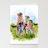zebra Stationery Cards featuring Zebra by Anna Shell